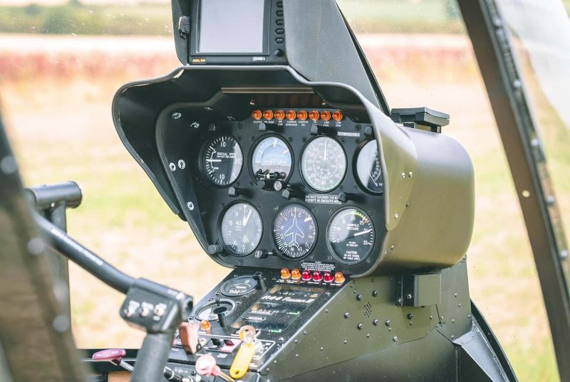 Helicopter interior dashboard