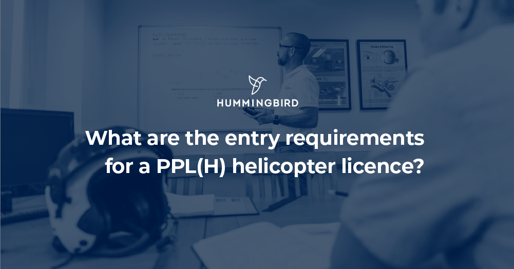 What are the entry requirements for a PPL(H) helicopter licence?